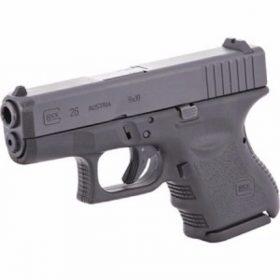 Glock 26 Gen 3 black pistol