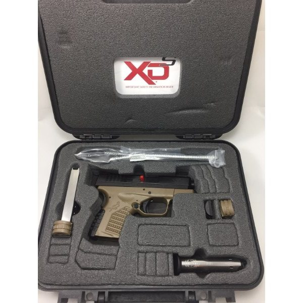 Springfield Armory XDS 9mm FDE Overhead shot