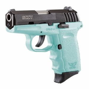 SCCY CPX-2 teal & black 9mm pistol