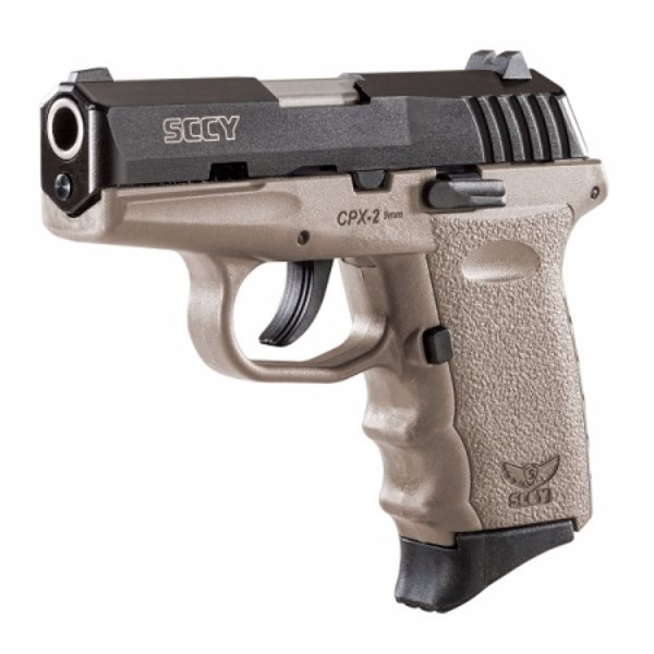 SCCY CPX-2 FDE & Black slide 9mm pistol