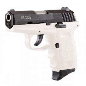 SCCY CPX-2 White & Black slide 9mm pistol