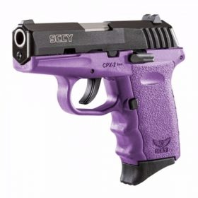 SCCY CPX-2 purple & black slide 9mm pistol