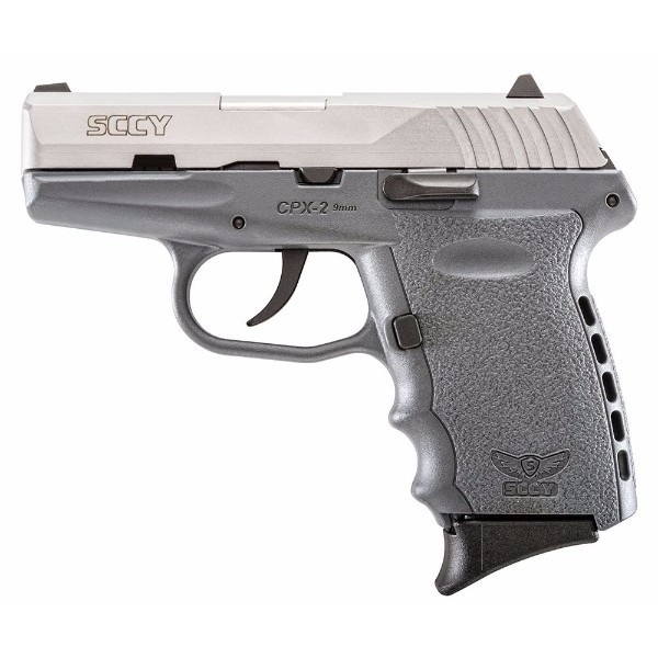 SCCY CPX-2 Grey & Stainless slide 9mm pistol