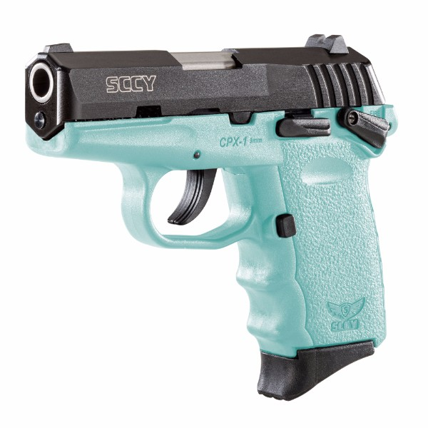 SCCY CPX-1 Robins Egg Blue & Black Pistol