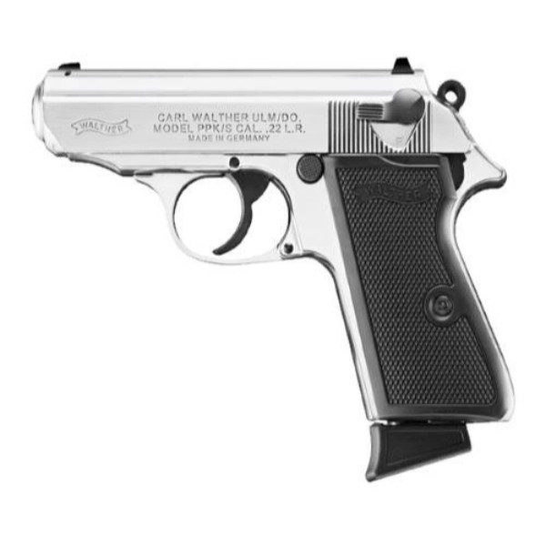 walther ppk s 22lr 10 1 nickel plated 3 35 pistol