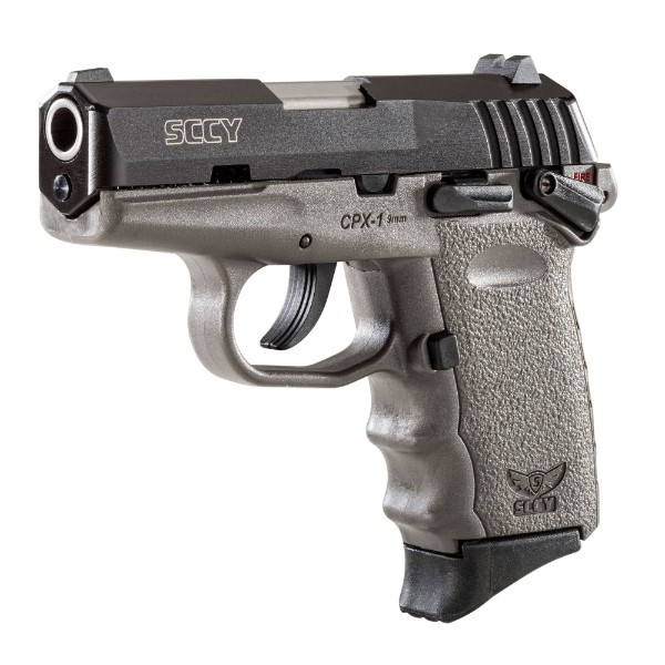 SCCY CPX-1 Grey frame & Black Slide 9mm Pistol