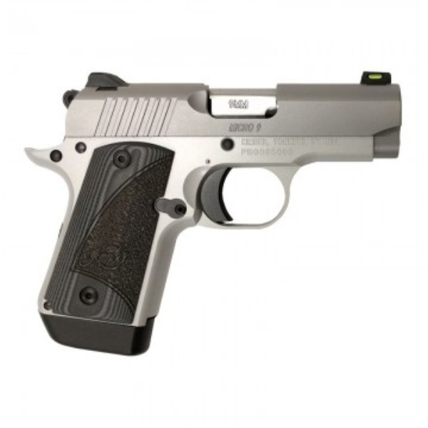 Kimber 9mm Micro 9 Stainless Tfx Pr: Kimber Micro 9 9mm Stainless Steel With G-10 Grips Pistol