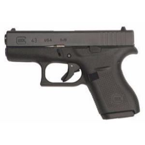 Glock 43 USA Black 9mm Pistol