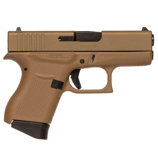 Glock 43 Full Flat Dark Earth Frame 9mm Pistol PI4350201CKFDE