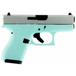 GLOCK 42 Robins Egg Blue 380acp pistol
