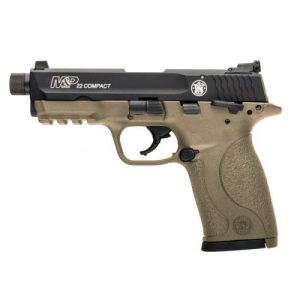 SMITH & WESSON M&P22 FDE THREADED .22lr pistol