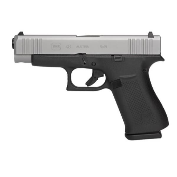 GLOCK 48 SILVER AUSTRIA 9MM 10 Round Pistol