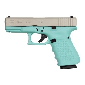 Glock 19 Robins Egg Blue Gen4 USA 9mm Pistol