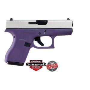 GLOCK 42 Purple Finish w/ Shimmering Aluminum Slide .380 ACP Pistol