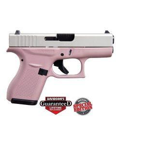 GLOCK 42 Pink Finish w/ Shimmering Aluminum Slide Special Edition .380 ACP Pistol