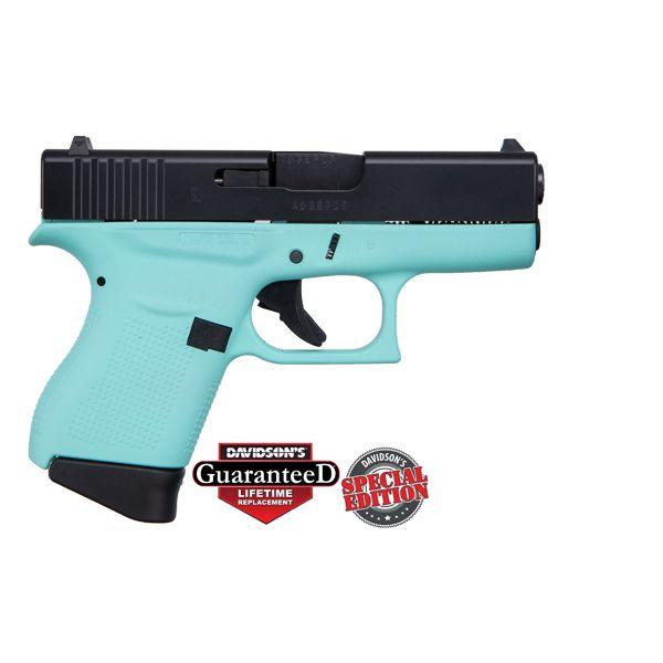 GLOCK 43 ROBINS EGG BLUE W/ BLACK SLIDE USA 9MM CKREEB