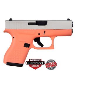 Glock 42 Coral w/ Shimmering Aluminum Slide Special Edition .380 ACP Pistol
