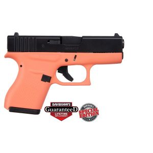 GLOCK 43 CORAL W/ BLACK SLIDE USA 9MM PST CKCRLEB