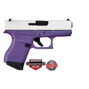 GLOCK 43 PURPLE W/ ALUMINUM SLIDE USA 9MM PST CKPRSA