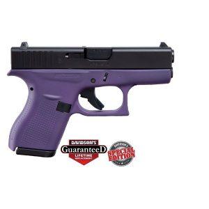 Glock 42 Purple w/ Black Slide .380ACP 6 RD Pistol