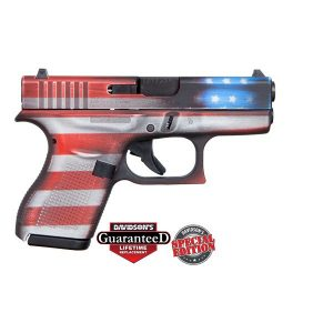 Glock 42 US Flag Cerakoted 380ACP Pistol