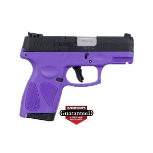 TAURUS G2S DARK PURPLE BLACK SLIDE 7 ROUND SLIM 9MM PISTOL
