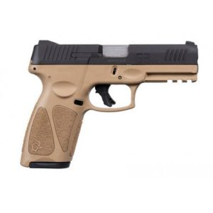TAURUS G3 TAN W/ BLACK SLIDE 9MM 15/17RD PISTOL