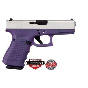 Glock 19 Purple w/ Shimmering Aluminum Slide Gen4 9mm Pistol