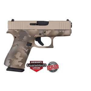 Glock 43X Desert Camo Frame 9mm 10 Round Pistol